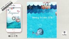 Marine Nautical Birthday. Animated Invitation. Nautical, Bee, Invitations, Make It Yourself, Birthday, Youtube, Navy Marine, Birthdays, Bees