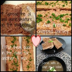 We love garlic bread, so I tried to make some healthy ones. And they turned out pretty amazing 😉 I made a few extra to throw in the freezer, so if you don't want as many, just half the recipe. It goes great with your soup or salad! This recipe makes 4 baguettes. Here's what … <a href=