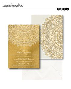 Bridal Shower Invitation  Bohemian  Moroccan  by CupcakeGraphics1