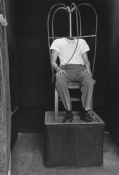 Diane Arbus Headless man, N.Y.C., 1962  gelatin silver print, 20 x 16 inches