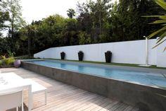 Un couloir de nage très contemporain