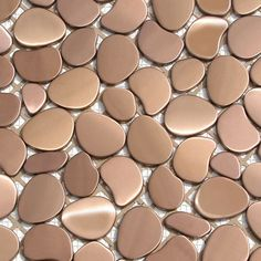 Solistone Metal Freeform Orbit 11 in. x 11 in. x mm Metal Mesh-Mounted Mosaic Wall Tile sq. / - The Home Depot Metallic Wall Tiles, Mosaic Wall Tiles, Pebble Mosaic, Wal Art, Copper Backsplash, Kitchen Backsplash, Copper Interior, Best Floor Tiles, Copper Kitchen