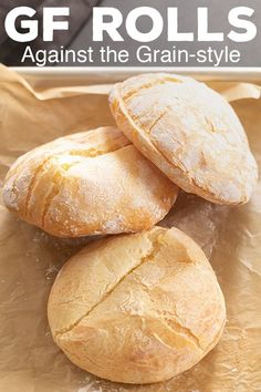 This recipe for homemade Against the Grain-style gluten free rolls is just like the original. Stop paying too much for packaged gluten free bread! Gluten Free Rolls, Gluten Free Diet, Foods With Gluten, Gluten Free Cooking, Lactose Free, Gluten Free Breakfasts, Gluten Free Desserts, Dairy Free Recipes, Grain Free Bread