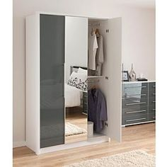 Click To Zoom Malone Sliding Mirror Door Wardrobe Large