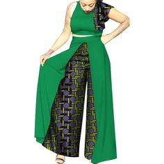 acae04ba72969 African ClothingTop-Skirt Sets Cotton Wax Print Dress for Women Bazin Riche  Dash Wax