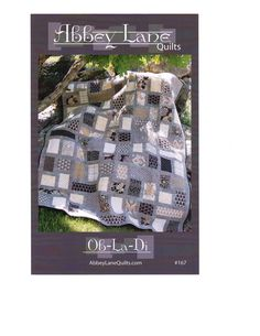 Ob-La-Di Pattern By Abbey Lane Quilts, Perfect for Fat Quarters and Jelly Rolls. $8.73, via Etsy.