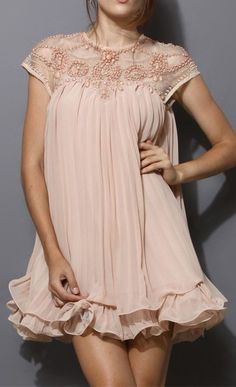 Pleated Chiffon Dress, if it was a tad longer it would be perfect!