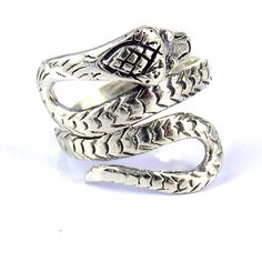 Cobra Snake Coil Wrap Around .925 Silver Ring (Thailand) ($42) ❤ liked on Polyvore