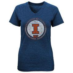 Girls 4-6x Illinois Fighting Illini Medallion Tee, Girl's, Size: M(5/6), Blue