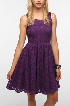 Pins and Needles Backless Lace Dress  #UrbanOutfitters