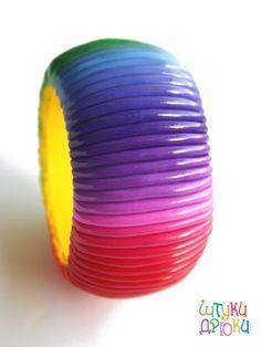 Tuto : Comment faire un braclet arc en ciel rainbow en Fimo - Le blog de Miss Kawaii