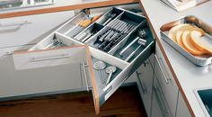 """hmmm...saw a different style I liked better then this but this """"corner drawer"""" idea might work? kind of weird....but... ?"""