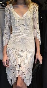 crochelinhasagulhas: Vestido em crochê filé