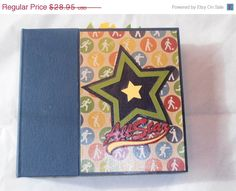 6x6 sports scrapbook by SimplyMemories on Etsy.  Perfect for a multi-sport athlete