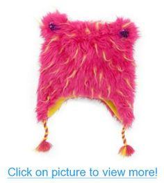 Total Girl Trapper Girls Fuzzy Pink Plush Fur Winter Hat Peruvian Beanie