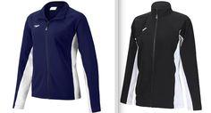 NWT $78 Speedo Swimwear Female Boom Force Warm Up Jacket Black Navy WOMEN'S  #Speedo #CoatsJackets