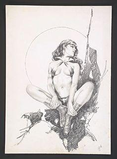 Vampirella Artists Jose Gonzalez | Original Jose Gonzalez Vampirella Pinup Art from 1981 Vampirella #94