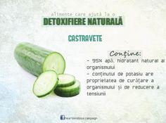 Detoxifiere naturală: castravete. #TomorrowIsNow #healthy #food #cucumber #vegetable #detox #nutrition #campaign