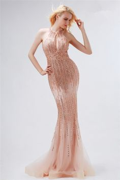 Fantastic Front Cut Out Open Back Nude Tulle Beaded Prom Dress Nude Prom Dresses, Prom Dresses 2017, Prom Dresses For Sale, Formal Dresses, Beaded Prom Dress, Tulle, Fashion, Dresses For Formal, Moda