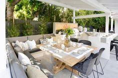 Christina & Ant Anstead's New Home | Christina on the Coast | HGTV Resin Patio Furniture, Backyard Furniture, Backyard Projects, Backyard Patio, Outdoor Furniture Sets, Furniture Ideas, Diy Patio, Geek Furniture, Backyard Plants