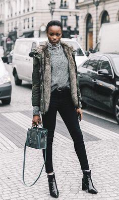 Woman at Paris Fashion Week 2017