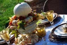 Pumpkin table scape