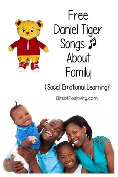 Free Daniel Tiger song videos about family to help young children develop social emotional learning strategies - Bits of Positivity Helping Children, Young Children, Daniel Tiger Songs, Positivity Blog, Family Songs, Free Songs, Happy Song, Life Journal, Pbs Kids