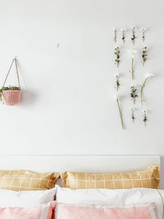 Nordic Home, Delicate, Pastel, Mustard Yellow, Geometric Prints, Sheet Sets, Master Bedroom, Color Palettes
