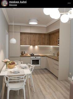 Simple Kitchen Design, Kitchen Room Design, Home Decor Kitchen, Interior Design Kitchen, Small Kitchen Ideas On A Budget, Modern Kitchen Interiors, Kitchen Cabinet Styles, Cuisines Design, Sweet