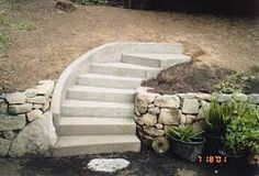 Image result for rounded cement stairs