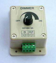 LED Dimmer 12 Volt / 8 Amp. manuell einstellbar ( Drehknopf )  Herzlich willkommen in meinem eShop !