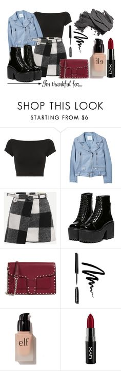 """I'm Thankful For..."" by lululafitte on Polyvore featuring moda, Helmut Lang, MANGO, Rebecca Minkoff, Bobbi Brown Cosmetics, e.l.f. y NYX"