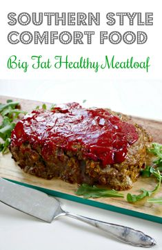 Big Fat Healthy Southern Meatloaf, Made with Oats - How to Make Moist Southern Meatloaf Recipe, Made with Oats - Healthy Meatloaf, Best Meatloaf, Meatloaf Recipes, Beef Recipes, Cooking Recipes, Pancake Recipes, Hamburger Recipes, Barbecue Recipes, Cooking Ideas
