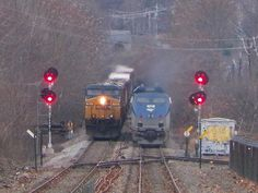 CSX & Amtrak Downeaster by Littlerailroader, via Flickr