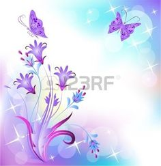 Illustration of Floral background with butterfly vector art, clipart and stock vectors. Magic Background, Slide Background, Powerpoint Background Design, Background Templates, Art Papillon, Butterfly Art, Butterflies, Illustrations, Aesthetic Wallpapers