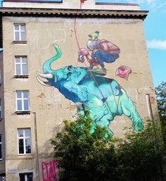 Mural ul.Uniwersytecka Statue Of Liberty, Poland, Street Art, Statue Of Liberty Facts, Statue Of Libery