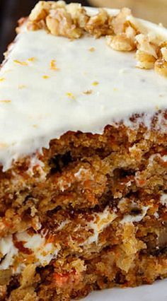 Pineapple Carrot Cake with Orange Cream Cheese Frosting
