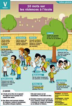 """lefrancaisetvous: """" 10 mots sur les violences à l'école """""""