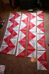 bandana chevron quilt, these actually come out looking really pretty.  Future…
