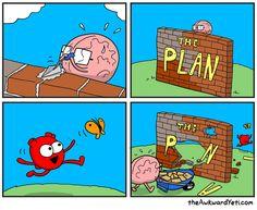 The Awkward Yeti for Jul 2018 Comic Strip Happy Comics, Life Comics, Comics Love, Funny Cartoons, Funny Comics, Funny Memes, Hilarious, It's Funny, Akward Yeti