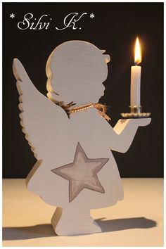 Angel Candle Girl H: cm made of wood - All About Decoration Christmas Wood Crafts, Christmas Angels, Christmas Projects, Holiday Crafts, Christmas Time, Christmas Decorations, Christmas Ornaments, Christmas Sewing, Christmas Embroidery