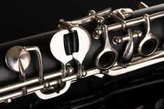 close up detail of clarinet on black background Jazz, Les Themes, Clarinet, Illustrations, Black Backgrounds, Photos, Images, Challenge, Detail