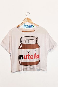 Nutella crop shirt - Fresh-tops.com only if i had some high waisted shorts/pants