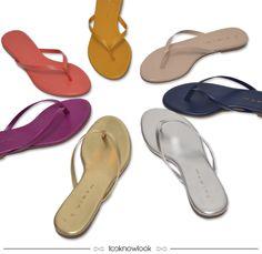 Sandálias Rasteiras Coloridas #moda #sandália #rasteira #color #shoes #looknowlook