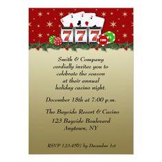 Casino Play   Pinterest   Christmas invitations, Holiday party ...