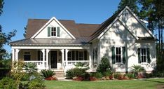 04304 Cumberland Harbor Cottage, Front Elevation, Farm Style House Plans, Country Style House Plans