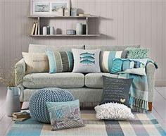 A teal cushion takeover