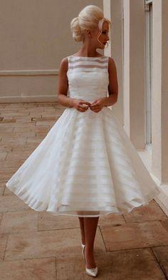 12 Best 50s Wedding Dresses Images Wedding Dresses Tea Length