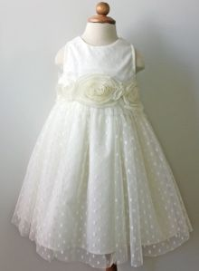 Beautiful unique flower girl toddler special occasion dress off flower girl dress ivory dot tulle flower waltz dress style made to order this dress is made from ivory dotted tulle and double lined with cotton mightylinksfo