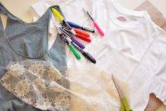 Tank Top DIY & How to Create a Snakeskin Print with Sharpie Stained Markers (LOVE her blog) ecledezma